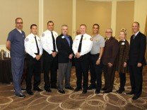 Dr. David Farcy, Mount Sinai Medical Center; Miami Beach Fire Chief Francois Betancourt and Chief Javier Otero; Hallandale Beach Fire Chief Dan Sullivan; Miami-Dade Chief John Krumenacker and Captain Jeff Roberts; Dr. Antonio Gandia, Charlene Welker and Steven Sonenreich, Mount Sinai Medical Center