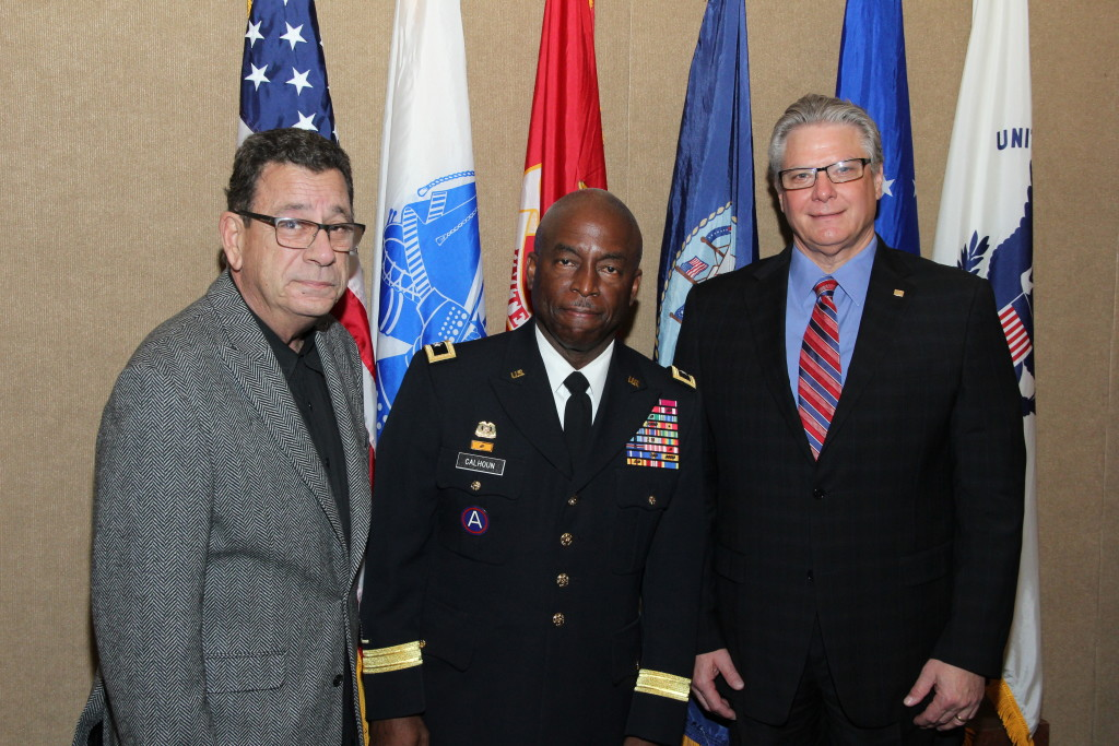 AMC Chair Cliff Schulman, Weiss Serota Helfman; Major General Michael Calhoun, Florida Employer Support of the Guard and Reserve; Doug Zaren, Memorial Hospital South