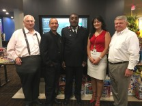 Arthur Barr, Barr & Associates; Jose Batista, Courtyard Aventura Mall; Capt. Albert Cancia, Salvation Army; Rita Noa, Aventura Police Department; Gary Pyott, AMC Chairman, FirstService Residential