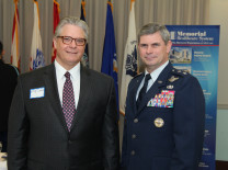 Doug Zaren, CEO, Memorial Regional Hospital South; Maj. Gen. Michael T. Plehn, U.S. Air Force, Chief of Staff, U. S. Southern Command