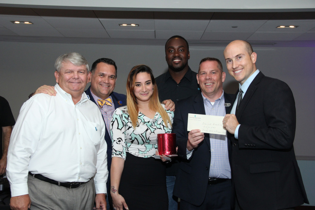 AMC Chairman Gary Pyott, FirstService Residential; Oscar Llorente, Mount Sinai Medical Center; Stephanie, Newport Beachside Hotel & Resort; Germain Bebe, Greater North Miami Chamber of Commerce; Jon Kranock, Newport Beachside Hotel & Resort; Devin Kammerer, Hotwire Communications
