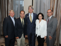 FP.1 – Gary Pyott, Chairman, Aventura Marketing Council / Chamber of Commerce; Guest speaker Paul S. George, Ph.D.; Mayor Bud Scholl, Comm. Jeanette Gatto and City Manager Chris Russo, City of Sunny Isles Beach