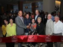 Claudia Passamonti, AC Hotel Aventura; Aventura Comm. Gladys Mezrahi, Indigo Events; Alan Pinado, AC Hotel Aventura; Aventura Comm. Howard Weinberg, Hotwire Communications, Mayor Enid Weisman and Comm. Marc Narostsky; North Miami Beach Comm. Phyllis Smith; Hon. Lew Thaler; AMC Chairman Gary Pyott, Association 1st