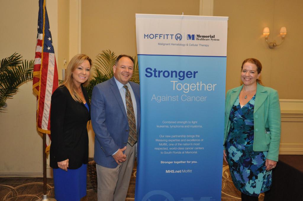 Maggie Wiegandt, Dr. Hugo Fernandez and Abby Castillo, Memorial Healthcare System