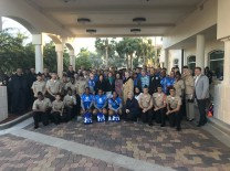 (Photo by Kelly Bruss, Soldier Ride®)  Wounded Warrior Soldier Ride participants with Miami-Dade County Comm. Sally Heyman, AMC Board Members; Residence Inn by Marriott Miami Aventura Mall team, City of Aventura Police Dept. and Dr. Michael M. Krop NJROTC cadets